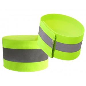 Attmu High Visibility Reflective Wristbands (One Pair), Reflective Ankle Bands, High Visibility and Safety for Jogging, Walking, Cycling - Works as Wristbands, Armband, Leg Straps