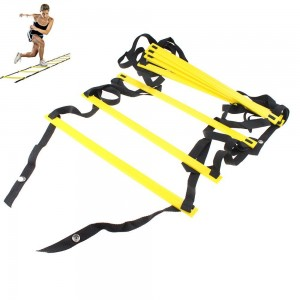 AGPtEK 8-Rung Agility Ladder 4 M Yellow and Black Durable For Speed Skills Soccer Football Fitness Feet Training