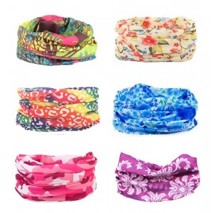 TETA Kalily Oringinal Pack of 6/9PCS Headband Bandana Protective Multi-use Seamless Breathable Neck and