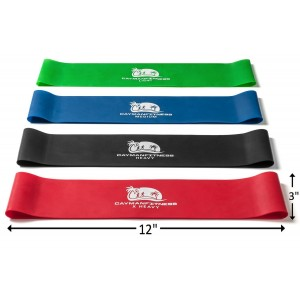 Cayman Fitness Premium Extra Wide Resistance Loop Bands. The Exercise Band Set Comes with 4 Heavy Duty Resistance Bands, Includes Downloadable Exercise Bands Guide and Online Video Library