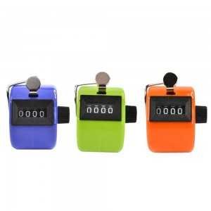 Worldoor Pack of 3 Color Handheld Tally Counter with 4 Digit Display, Golf Handheld Manual 4 Digit Number Tally Counter Clicker for Lap/Sport/Coach/School/Event