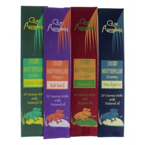 Tiger54 Herbal Mosquito and Insect Repellant Incense with Essential Oils, Lemongrass, Red Basil, Citronell