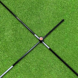 The Elixir Golf Alignment Sticks (2-pack) with (2) Right-Angled Connectors for Swing Traning and Practice, Fits in Golf Bag