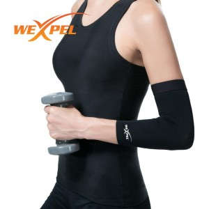Wexpel (TM) Copper Infused Elbow Compression Sleeve – Relieve and Heal Stiff, Strained, Sore and Aching Arms/Elbow Joints - Medium