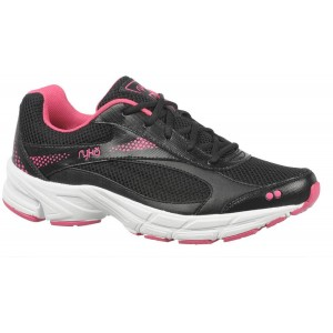Ryka Women's Metropolis Running Shoes Black/Pink B(M) US