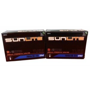Street Fit 360 Tube, 700 x 18-23 (27 x 1) 48mm PRESTA Valve Inner Tubes, Sunlite Bicycles. Road, Triathalon, Recu