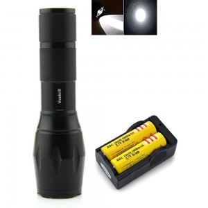 Veeki? Veeki Zoomable Scalable LED Flashlight Cree-xml T6 Waterproof Flashlight 2000 Lumen Cree XML T6 Ta