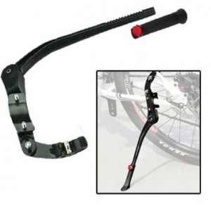 Outtag (No Tools Adjustable,17.7'' to 19.7'', fits 24'' to 29'',Double Fixation) Aluminum Alloy Mountain Bicycle Cycling Sturdy Kickstand Kick Firm Mount Mountain Bike MTB
