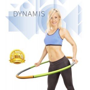 Dynamis Weighted Hula Hoop - Great Workout and Fun for the Whole Family - Added Weight for Calorie and Fat
