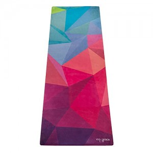Yoga Design Lab The Combo Yoga Mat LITE. Luxurious, Non-slip, Combo Mat/Towel Designed to Grip Better! 1.5mm thick