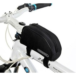 Allnice 1L Outdoor Mountain Bicycle Cycling Frame Front Top PVC Tube Bag Bike Pouch