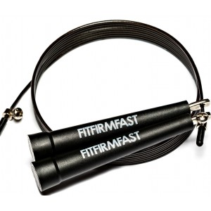 FitFirmFast Jump Rope - Premium Quality - Best Crossfit Speed Rope For Mastering Double Unders, WOD, MMA, Boxi