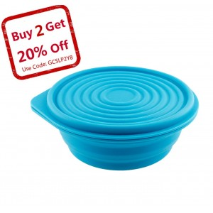 Collapsible Silicone Bowl for Camping - Food-grade and Space-Saving - by Not Just A Gadget