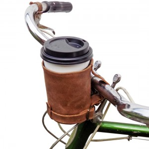 Hide & Drink Cruzy Kuzy Leather Bike Cup Holder Handmade by Hide and Drink