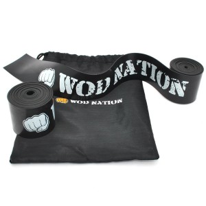 Muscle Floss Band by WOD Nation - Recovery Bands for Tack and Flossing Sore Muscles and Increasing Mobility - Stretch Band Includes Carrying Case