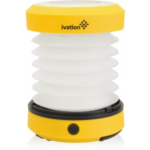 Ivation LED Camping Lantern Collapsible and Rainproof, Flashlight torch Mini Lamp with hanging handle, 2 Lighting levels, Battery Operated, Portable Handy and Easy to store