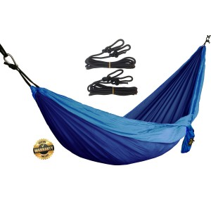 GOLDEN EAGLE LOW SEASON SALE 35% OFF Camping Parachute Silk Single Hammock. SWISS Design. FREE Ropes and Carabiners
