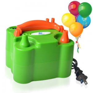 ASSEM Dual Nozzle Green 110V-120V 600W Portable Electric Balloon Pump Inflator Balloon Air Pump Inflator Balloon Blower for Party Balloons and Decoration Balloons