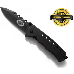 Sportsman Industries Sportsman Folding Knife with 5 Year Guarantee! This Premium Titanium Spring Assisted Opening Pocke