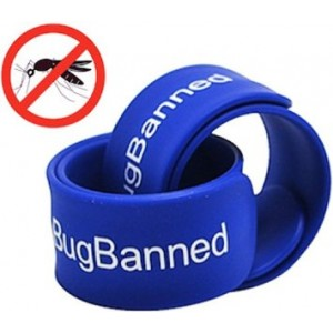 BugBanned Mosquito Repellent Wrist Band - Best Insect Repeller Bracelet For Adults And Kids - Protection Up To 340Hrs - DEET Free - All Natural Plant Oils - Pest Control - 30 Day