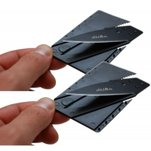 Atziloose Folding Credit Card Knife Pocket Knife (2-Pack) Fits Perfect in Your Wallet (Plastic Cover Handle) Stocking Stuffers Christmas Gifts for Him