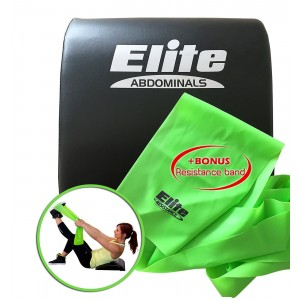 Elite sportz equipment Elite Sit Up Abdominal Mat - Comfortable Sit Up Pad with Nice Back Support - Bonus Resistance Band