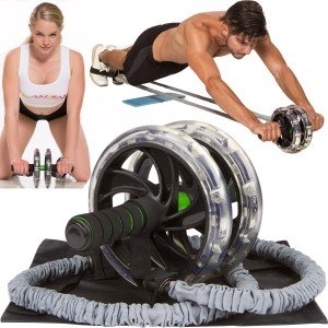 Youactive Sports Pro AB Roller Wheel, AB-WOW Abdominal Roller Wheel with Bonuses, Supports 500 Lbs, Home Fitness Ab
