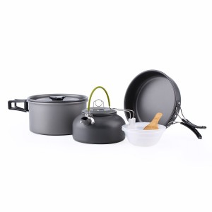 OUTAD 9pcs Camping Cookware and Pot Set