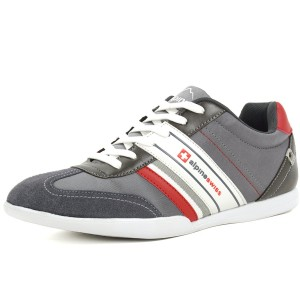 Alpine Swiss Mens Ivan Suede Trim Retro Tennis Shoes