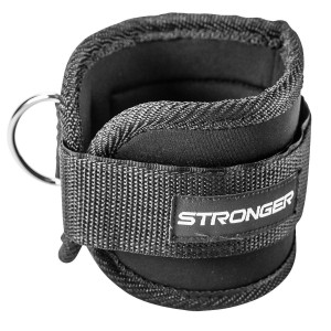 Premium Ankle Strap By Stronger (1 Pk) ? Maximize Cable Machine Workouts with Durable Cuffs for Ab, Leg and Glute Exercises ? First Rate Fitness Equipment for Women and Men