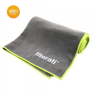 Fiterati Best Yoga Towel - 100% Microfiber, Super Absorbent - Great As a Bikram, Ashtanga or Hot Yoga Towel
