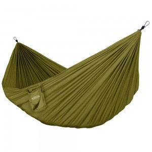 G4Free Portable Hammock - Lightweight Pure Color Nylon Fabric Parachute Hammock For outdoor Camping, Hiking,Travel, Hammock Ropes and Steel Carabiners included