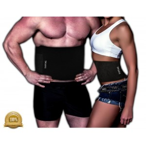 TOTAL Health Waist Trimmer Ab Belt For Men and Women, Weight Loss, Melt Cellulite, Trim and Shape Waist, Extra
