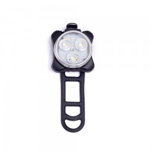 Shining Buddy USB Rechargeable Bike Lights   Front or Rear LED With 4 Solid and Flashing Modes   Red or White, E
