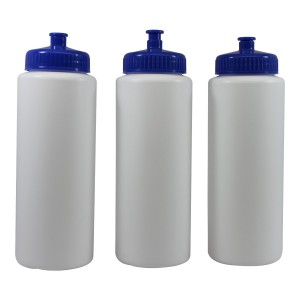 Pinnacle Mercantile Sports Squeeze Water Bottles Push/pull Cap Wide Mouth 32 Ounce Bpa-free Plast...