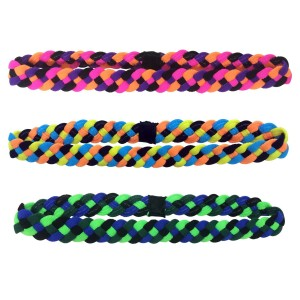 NewAge Headband Multi-Color 3 Pack Sports Headbands with NO SLIP GRIP Technology - Perfect for Athletes or Great A