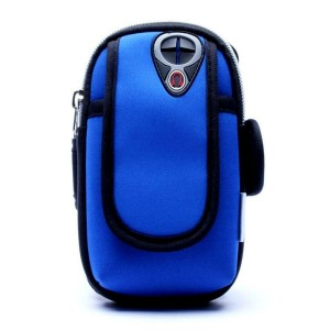 WIWIN Outdoors Sports Portable Arm Bag Pouch Case Wrist Wear Running Cycling Smartphone Arm Sleeve Pocket Armband Travel Storage Bag Box for iPhone 6/6 Plus/6S/6S Plus Samsung Galaxy S6/S6 Edge(Blue)