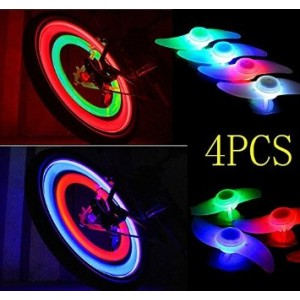 FORSUN Bicycle Wheel Spoke Tire Wire Tyre LED Neon Light Lamp Bulb - red,blue,green and Multi-color (Red