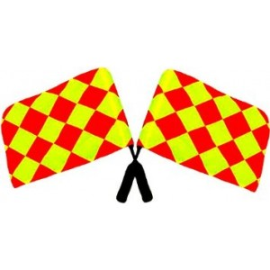 ProCoach Soccer Referee Linesman Flags - Set of 2
