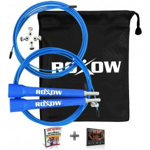 Roxow BEST Jump Rope - Perfect for Mastering Double Unders, Crossfit, Workout, RX, Boxing, WOD's, MMA an