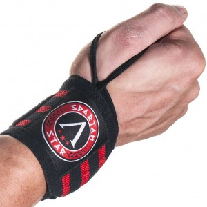 """Spartan Star Best Crossfit Wrist Wraps (18"""" 1 Pair) with Thumb Loop For Weightlifting - Olympic Lifting - Fitness and Gym Workouts for Women and Men - Support and Guard Your Wrists with this Protection Gear"""
