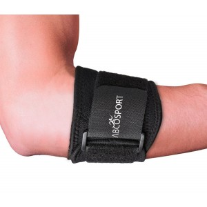Abco Tech Elbow Brace - Pain Relief for Elbow Hyperextension - Compression Pad - Support Tennis and Golf - A
