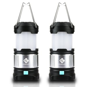 Etekcity 2 Pack Rechargeable LED Camping Lantern Flashlights and 4400mah USB Power Bank