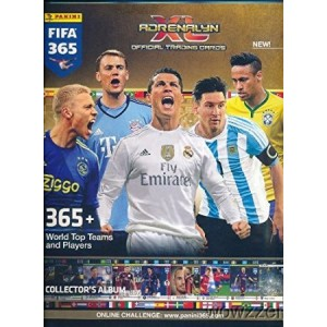 2016 Panini Adrenalyn XL FIFA 365 EXCLUSIVE Collectors Album Binder with 26 Sheets that can hold over 230 Cards! PLUS HUGE Checklist Poster and5 Adrenalyn XL Logo Card Protectors! Imported from Europe!