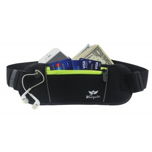 "Woogwin Sports Running Waist Pack Runner Belt - Secure Comfortable Travel Money Belt for Iphones + Accessories for Men and Women, Hydration Belt for Running with Bottle, Armband (4.7"") for Iphone 6 and Iphone 6s"