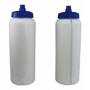 Pinnacle Mercantile Pro Sports Plastic Water Bottles with Squeeze and Drink Cap 32oz Bpa Free