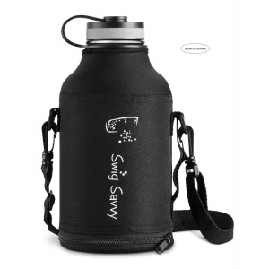 Swig Savvy's Pouch, for 64 Oz Wide Mouth Beer Growler, Convenient Shoulder and Hand Carrying Straps