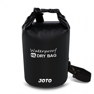 Dry Bag Sack Backpack 10L - JOTO Waterproof Dry Bag for Outdoor Activities - Perfect for Boating, Kayaking, Fishing, Rafting, Hiking, Swimming, Floating, Camping [ 10L Floating Dry Bag ] (Black)