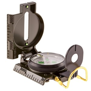 Elemental Outdoorz Hiking Compass - Field Military Marching Army Outdoor Camping Hiking Lensatic with Luminous Displa
