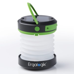 ErgaLogik Compact Solar Camping Lantern with USB PowerBank Great for Camping, Hiking and Trekking - Best Camping Lantern - Best Solar Lantern - Best Emergency Light